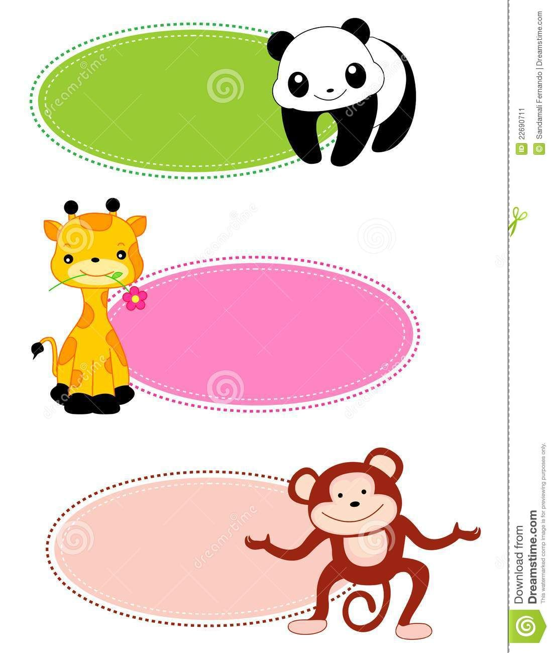 free cute school clip art borders and frames animal frame lable