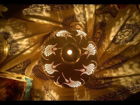 2017 A Bohemian Enigma Handmade Gourd Lamp Home Decor 2018