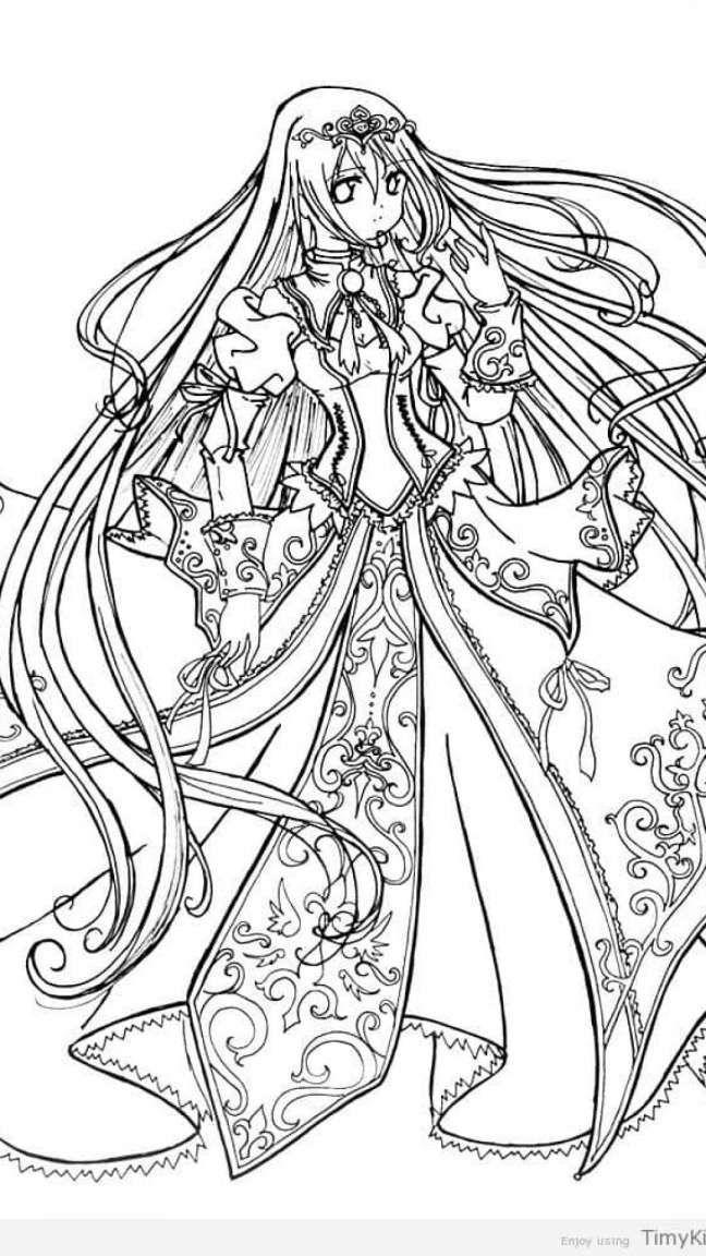 10+ Anime Princess Coloring Pages | Princess coloring ...