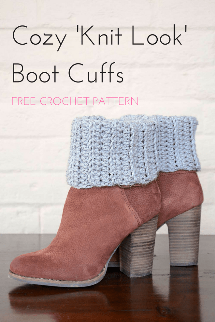 Cozy Crochet Boot Cuffs #bootcuffs