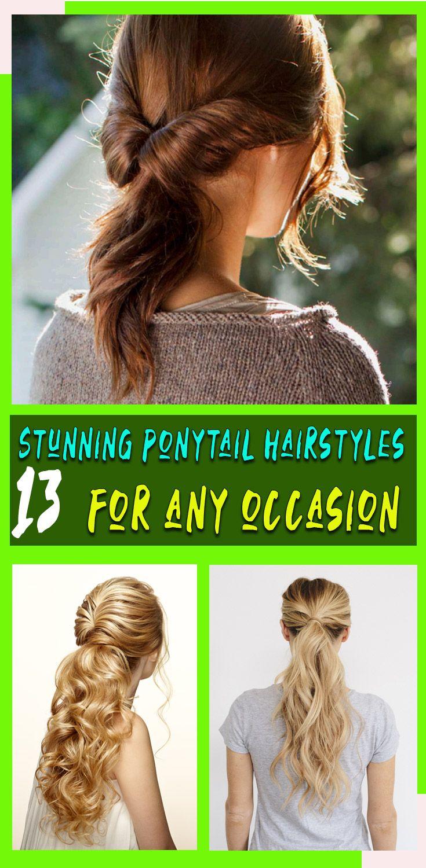 Cute Ponytail Hairstyles To Try In 2020 in 2020 | Ponytail hairstyles easy, Elegant ponytail ...
