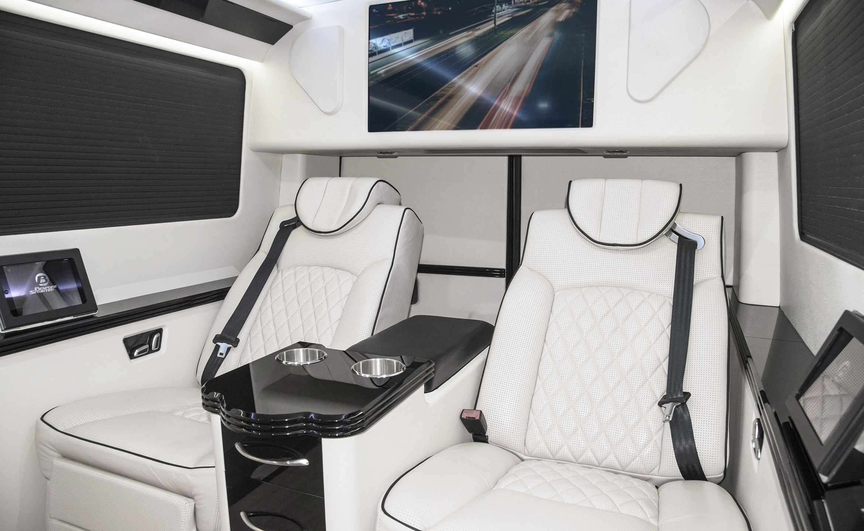 144 executive coach custom interior mercedes benz for Mercedes benz sprinter custom interiors