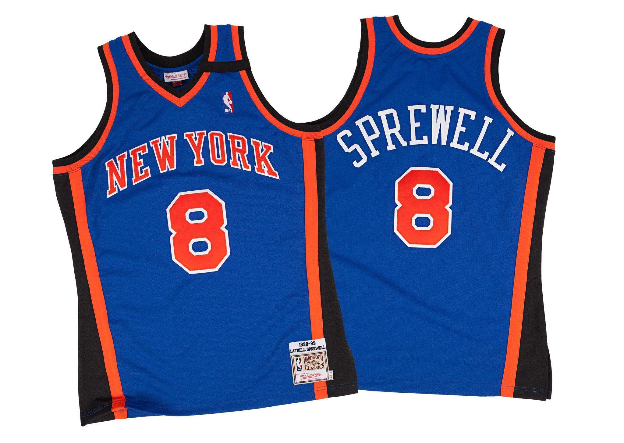 sale retailer 4392e de198 Latrell Sprewell 1998-99 Authentic Jersey New York Knicks ...
