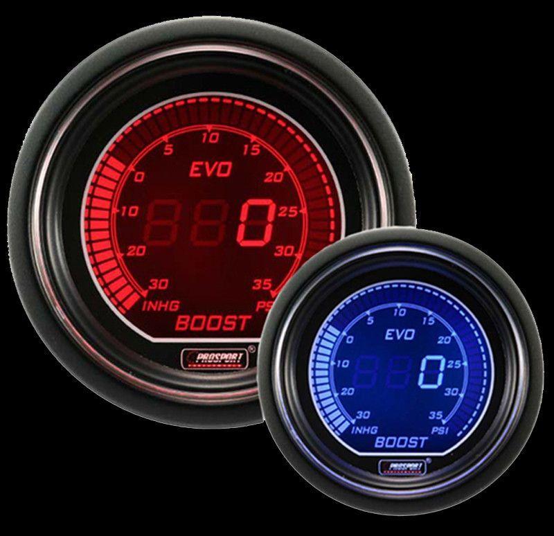 ProSport Digital Boost Gauge Electrical w/Sender PSI 52mm