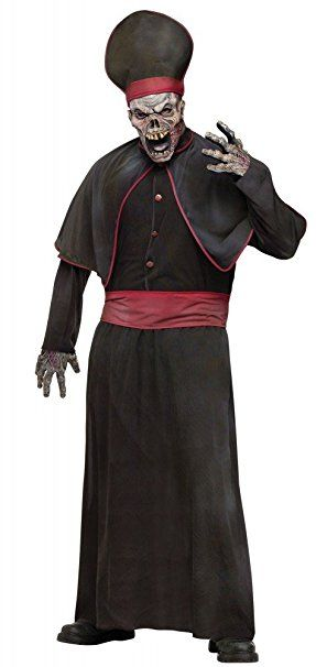 halloween herren kostüm zombie priester horror bischof