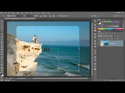 photoshop tutorial the new and improved crop tool lynda with the crop tool in photoshop cc you can assign a nondestructive crop meaning the crop doesnt permanently change the pixels of the image youre ccuart Gallery