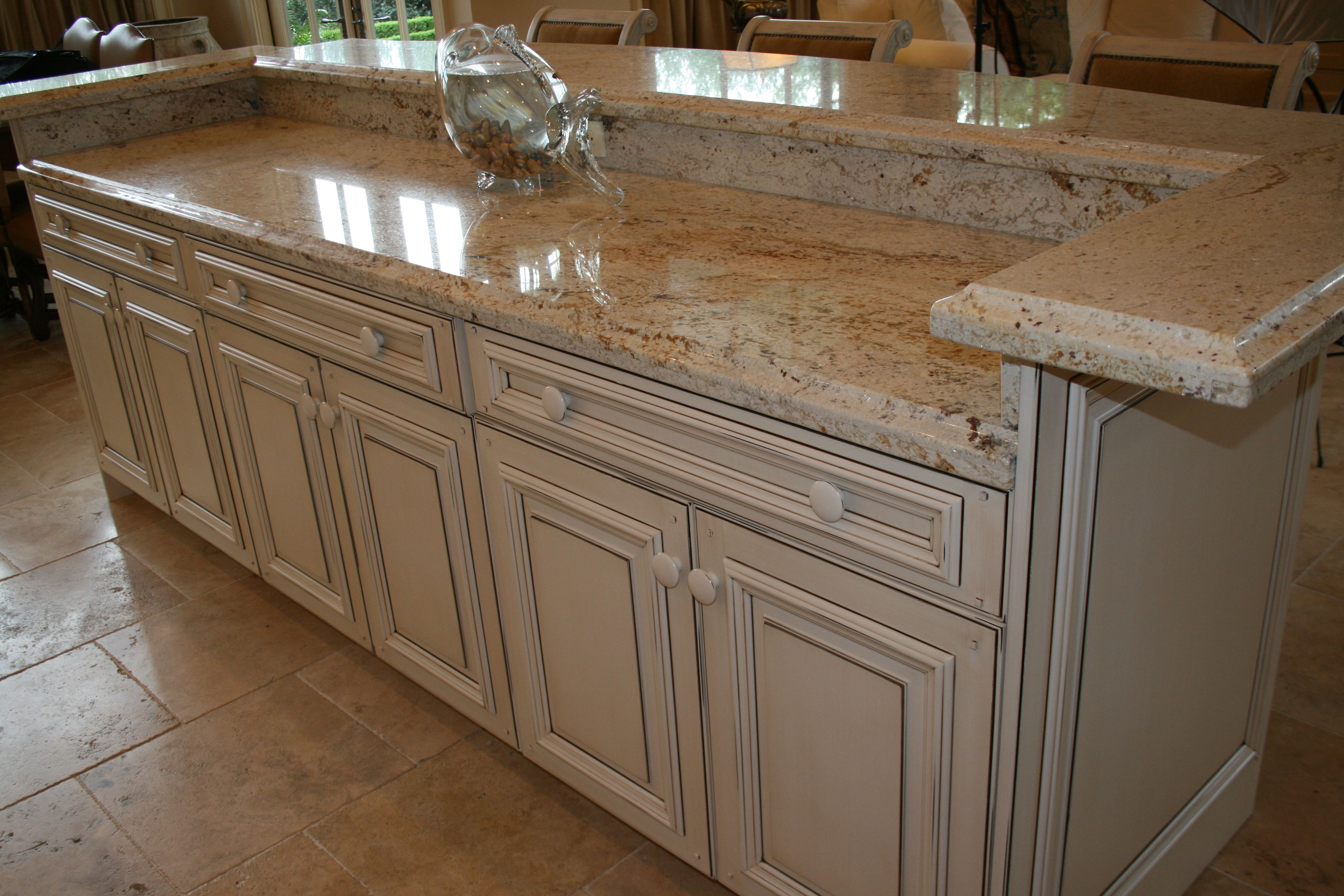 Colonial Cream Granite Kitchen 3cm Colonial Cream Granite With Deep Ogee Edge And Flush Laminated
