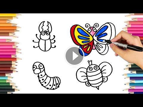Butterfly Pictures Drawing Ideas For Kids | Drawing for children and ...