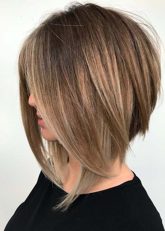 Best Straight Balayage Babylights Bob Haircuts For 2018