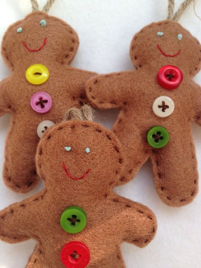 Gingerbread Man Decoration - these would be easy to DIY & Gingerbread Man Decoration - these would be easy to DIY | Seasonal ...