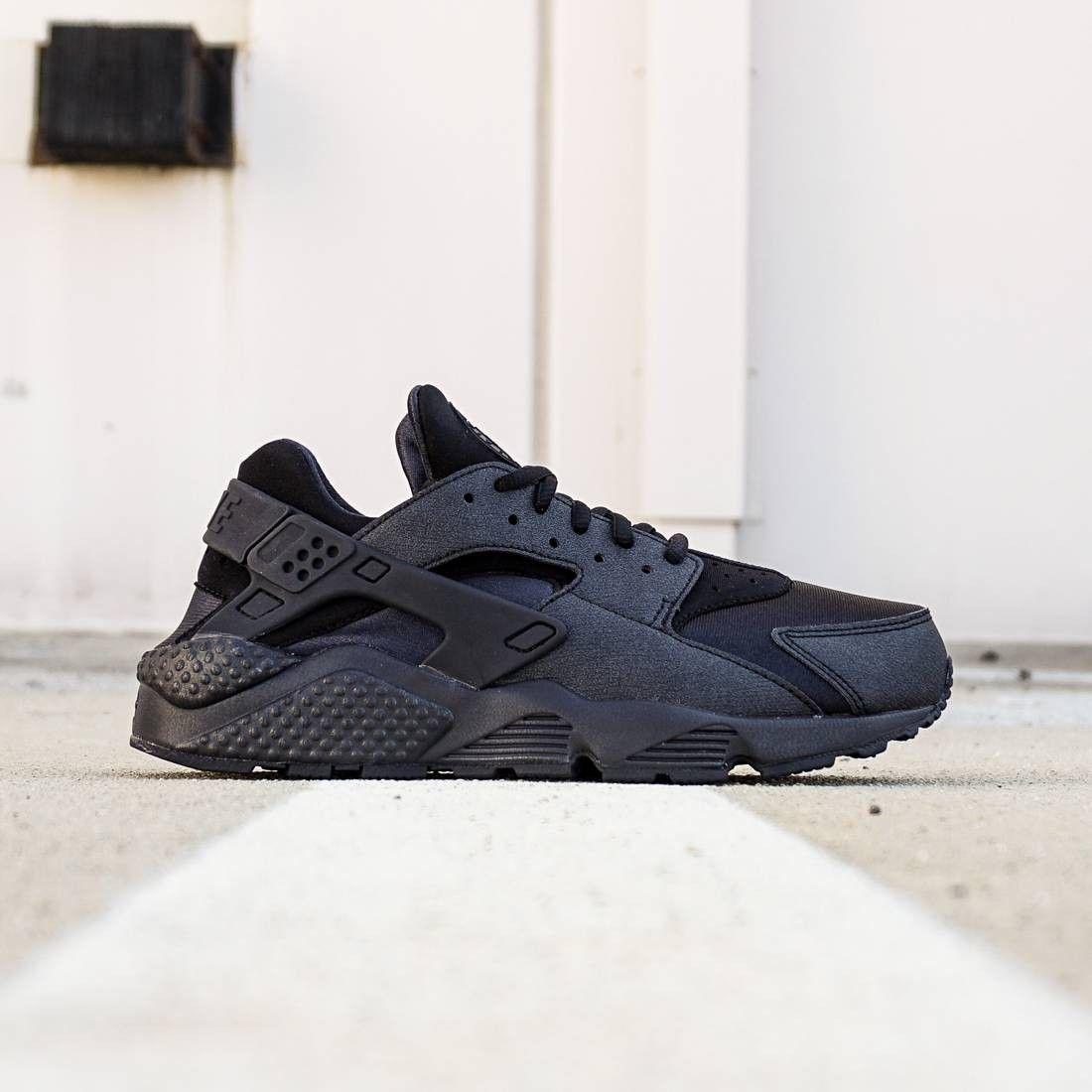 Nike Women Air Huarache Run Black Black In 2021 Huaraches White Nike Shoes Nike Shoes Tumblr