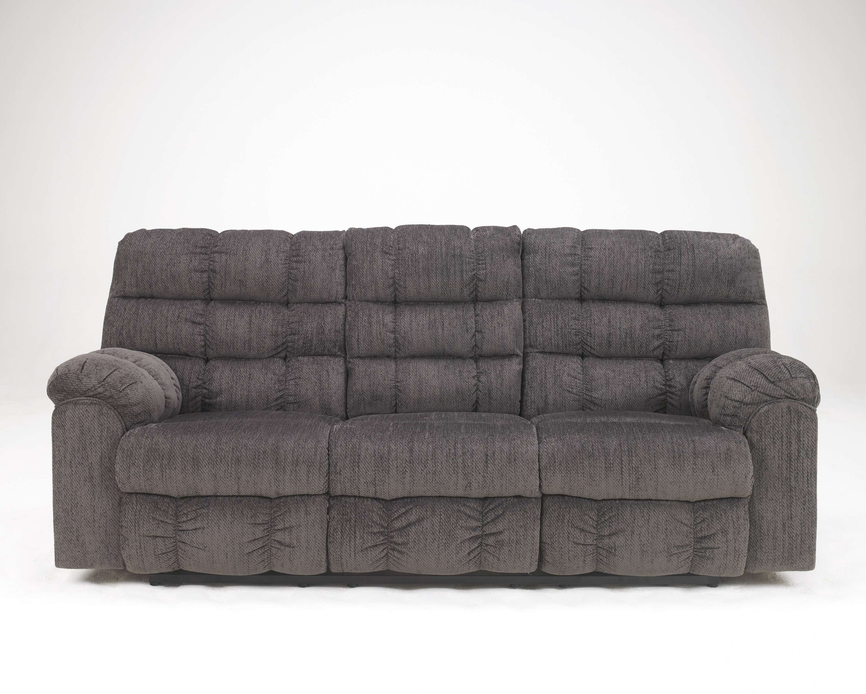 Acieona Slate Reclining Sofa With Drop Down Table