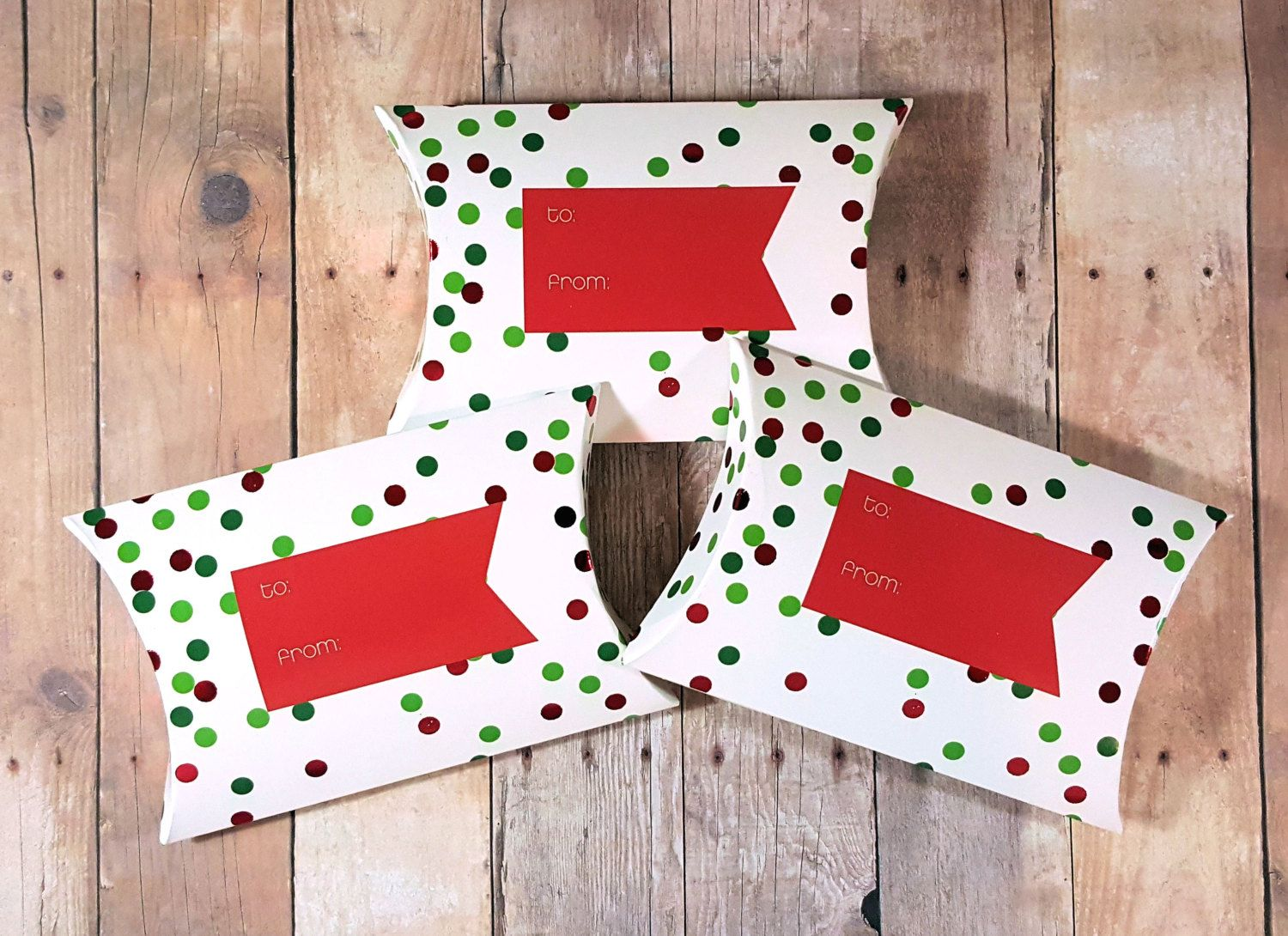 Christmas pillow boxes christmas gift card holders jewelry