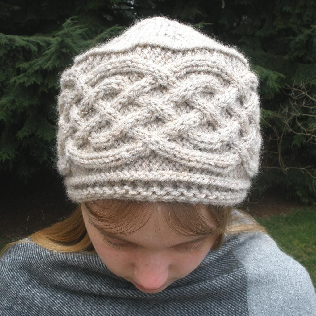 764c3b7a1d1 PDF Knitting Pattern-Saxon Braid Cabled Cap by Mountain Mist
