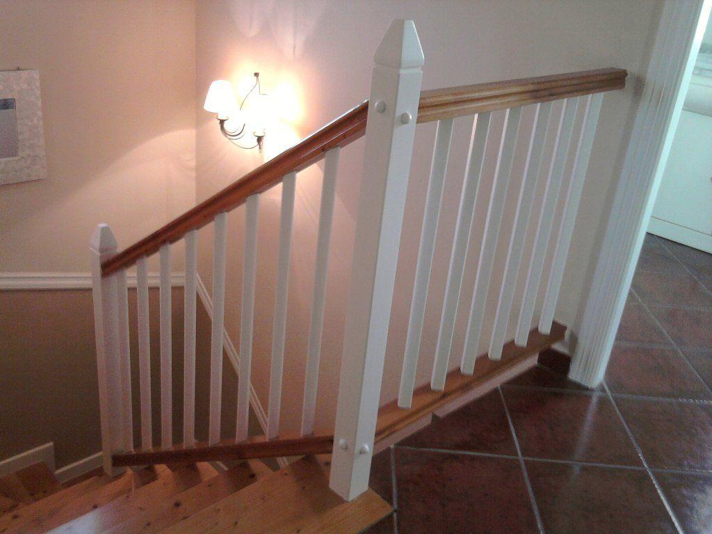 Pasamanos de madera blancos para escaleras buscar con - Escaleras de madera ...