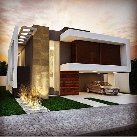 Vivienda unifamiliar fachadas casas pinterest for Viviendas modernas fachadas