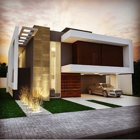 Vivienda unifamiliar fachadas casas pinterest for Casas modernas unifamiliares
