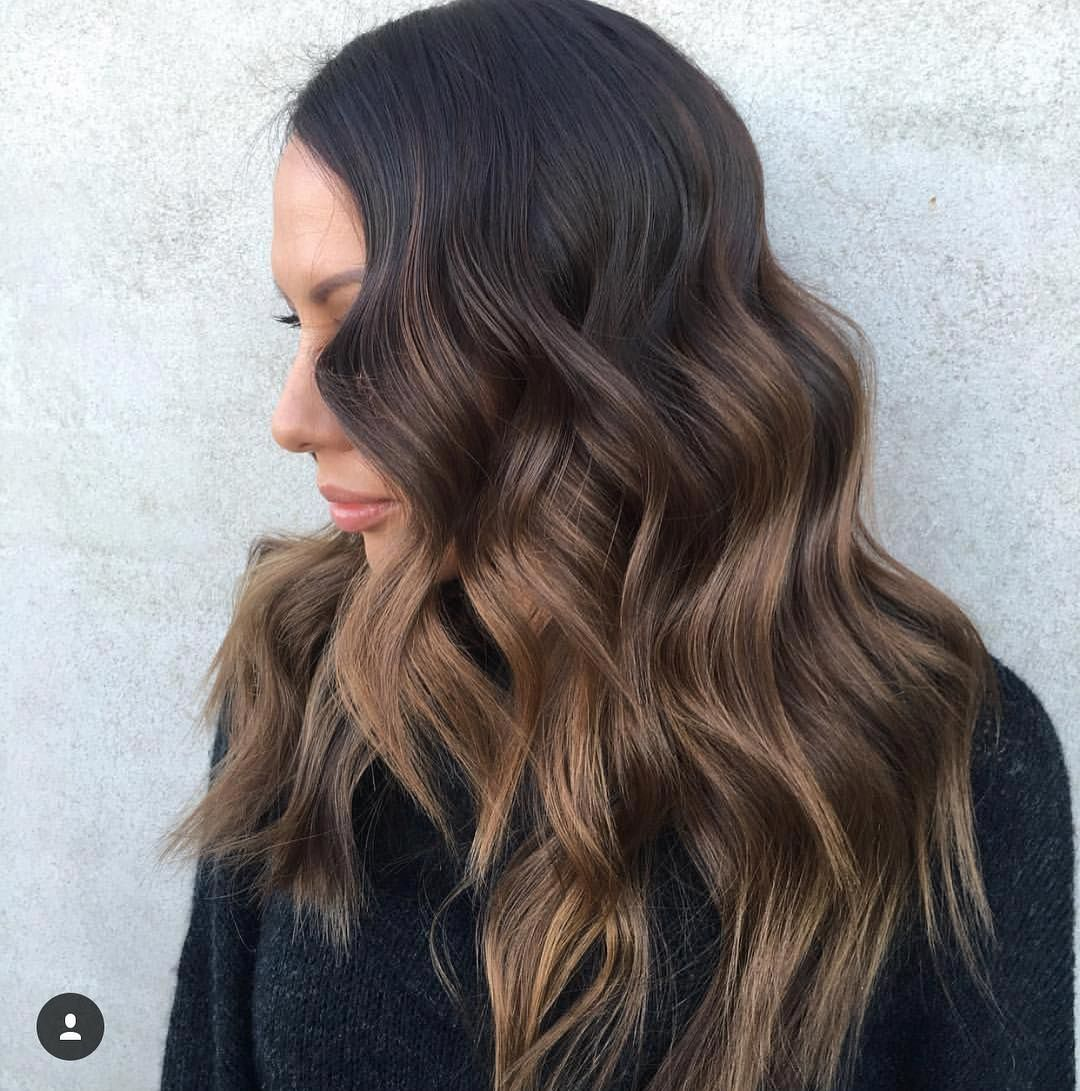 dark+brown+hair+with+light+brown+balayage