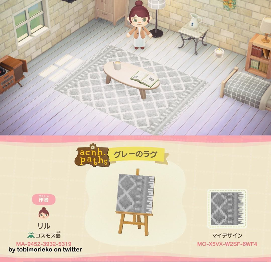 Animal Crossing Patterns On Instagram I Seriously Love This Rug I Also Had Someone Request A White In 2020 Animal Crossing 3ds Animal Crossing Animal Crossing Qr