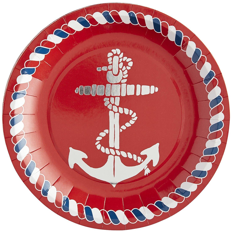 Multi-colored Nautical Paper Dessert Plate Set  sc 1 st  Pinterest & Multi-colored Nautical Paper Dessert Plate Set | *Cosmetics \u003e Bath ...