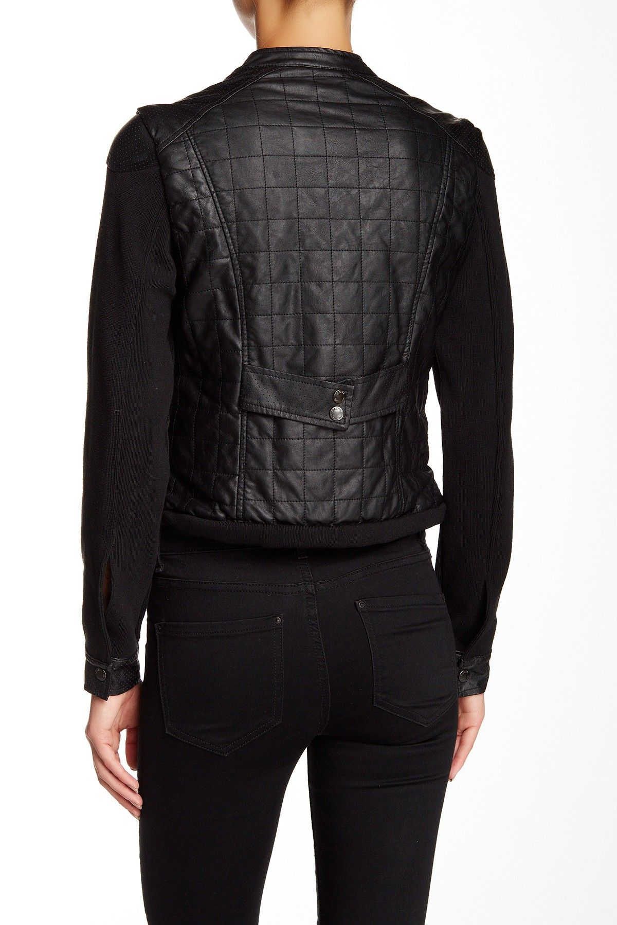 pin jeans by lane leather dkny faux quilt sarah moto bryant quilted jacket