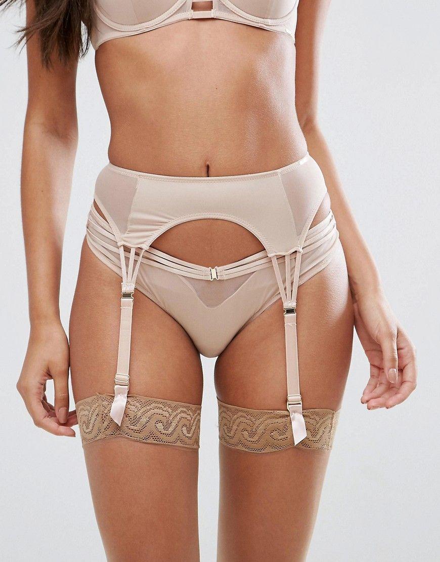 Suspender belts hosiery french bikini