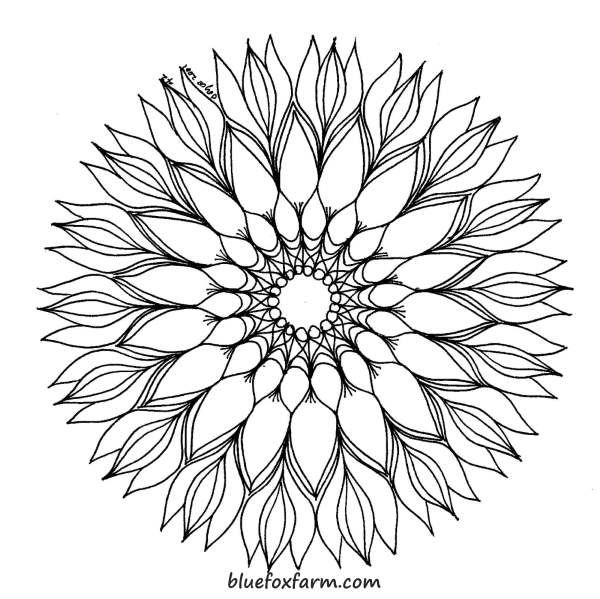 Wood Burning Patterns Can Be Simple Or Complex Like This Mandala