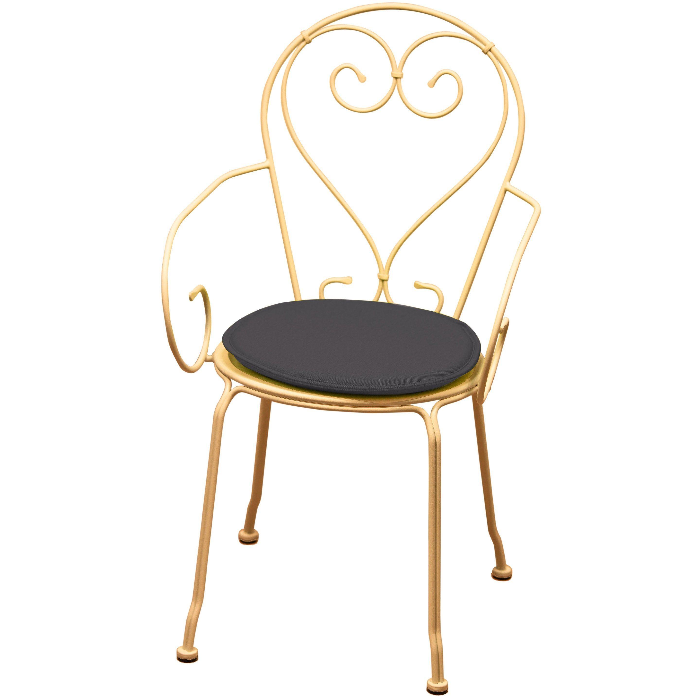 Galette De Chaise De Jardin Feria Gris Anthracite L 38 X H 3 Cm Assise De Chaise Galette De Chaise Et Chaise