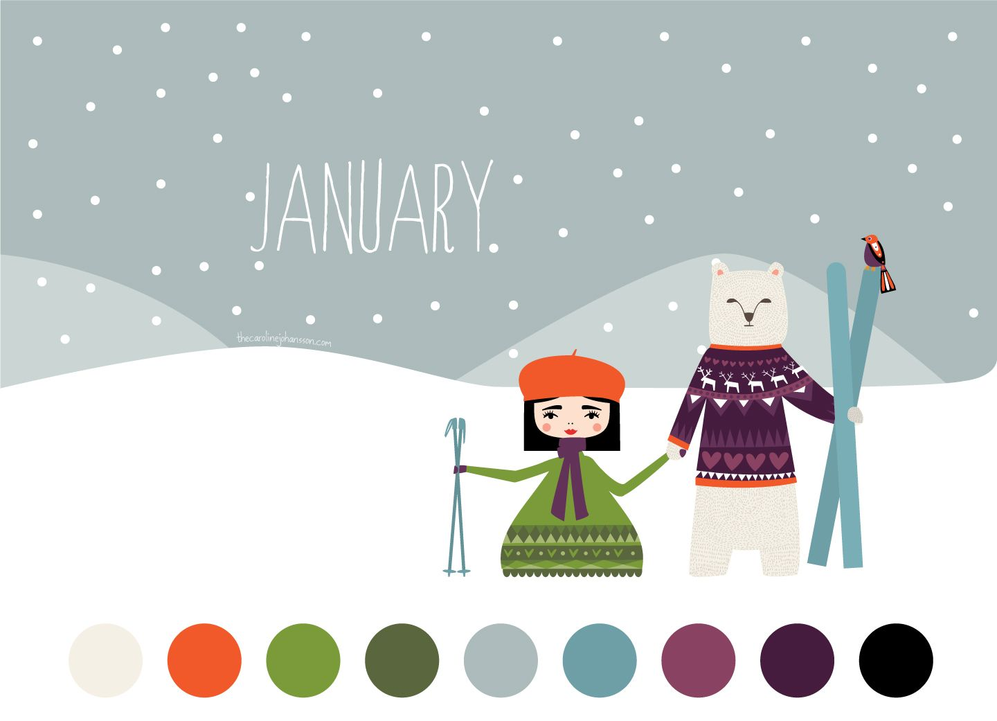 january-color-palette- check out this blog entry for how to use the ...