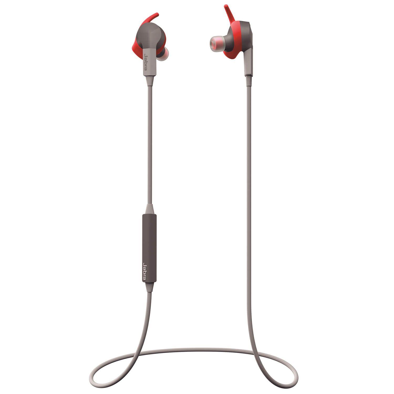 Jabra Bluetooth Stereo Headset Sport Coach Bezzhichni Sportni Slushalki S Hendsfrij I Vgraden Senzor Za Trenirovki Za Smartfoni S Bluetooth Cherven Siv Wireless Earbuds Cool Bluetooth Speakers Bluetooth