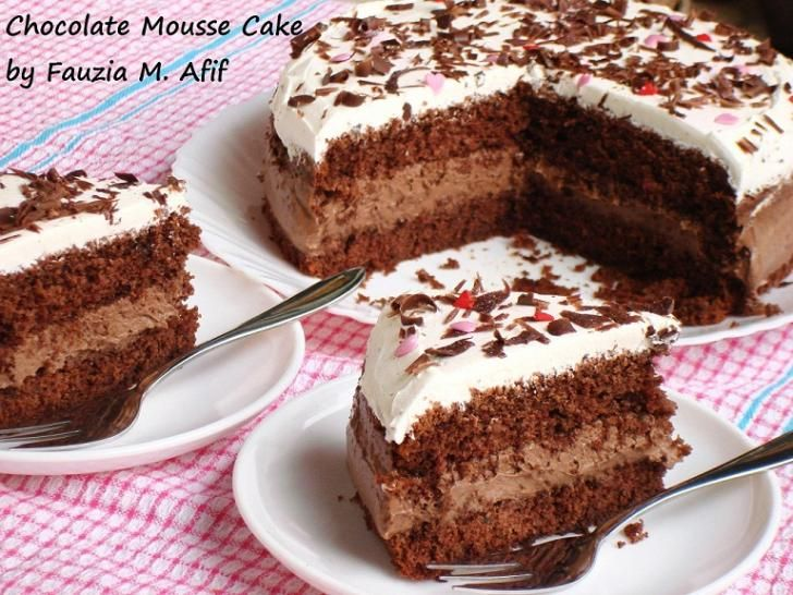 Quick and easy chocolate mousse cake