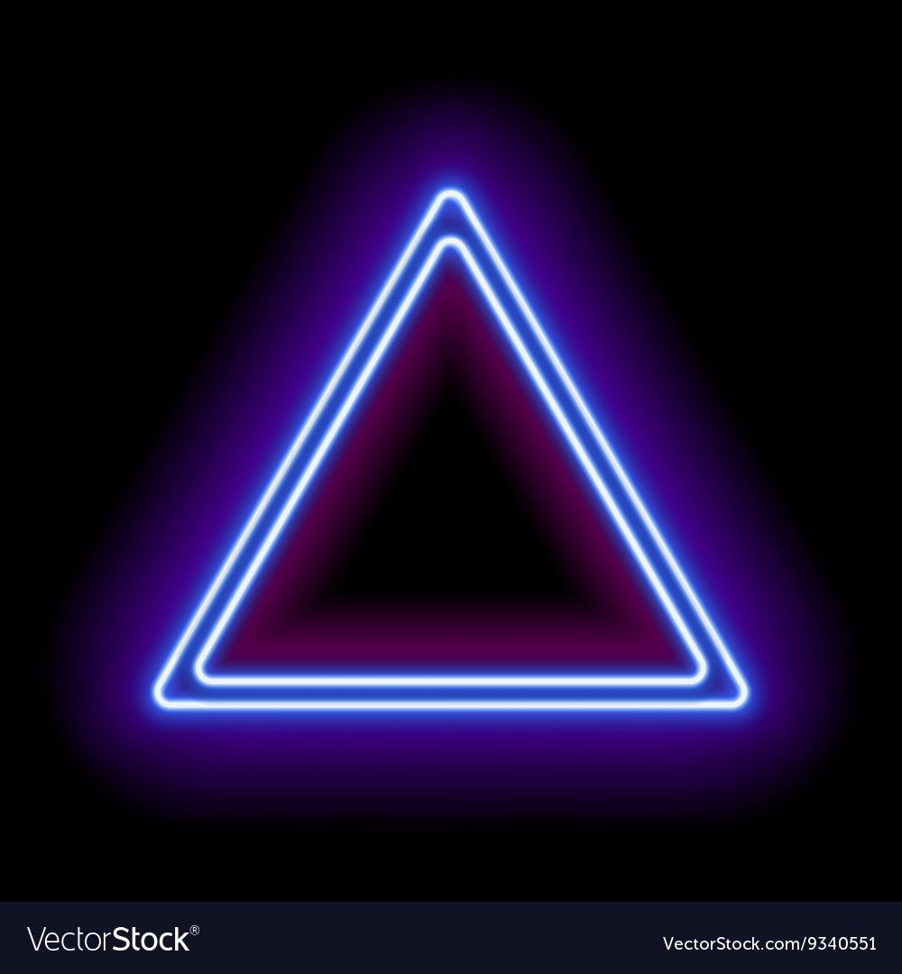 Neon Abstract Triangle Vector Image On VectorStock