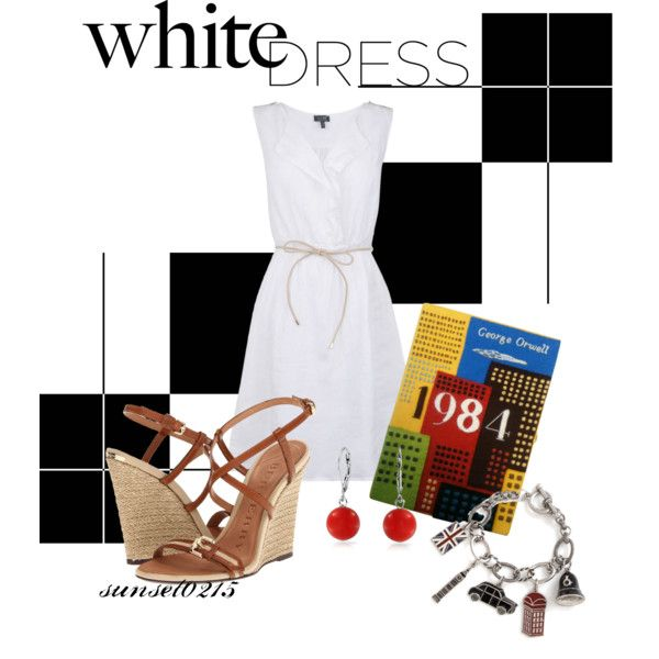 Style a White Dress, created by sunset0215 on Polyvore