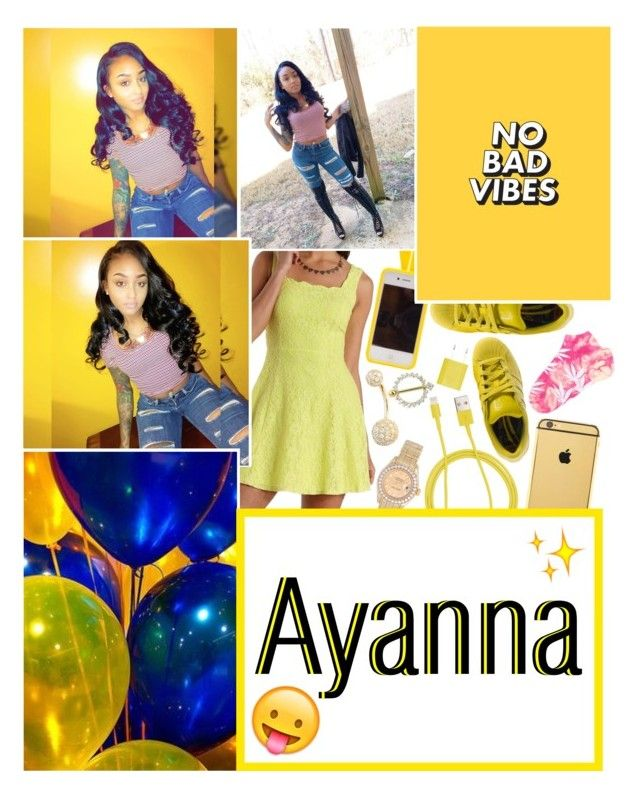 """""""Yanna"""" by unkn0wn-gods ❤ liked on Polyvore featuring PhunkeeTree, Charlotte Russe, Goldgenie, adidas, Rolex and HUF"""