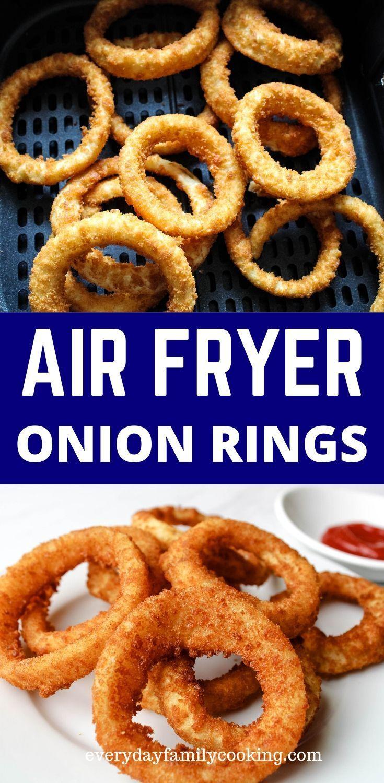 Easy air fryer onion rings from frozen in 2020 easy