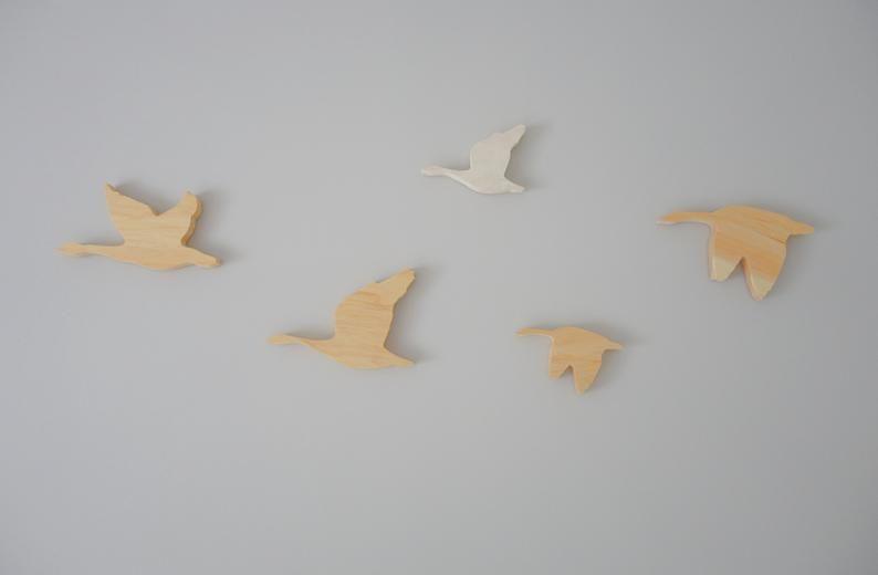 Birds canada goose wooden nursery decor girl boy