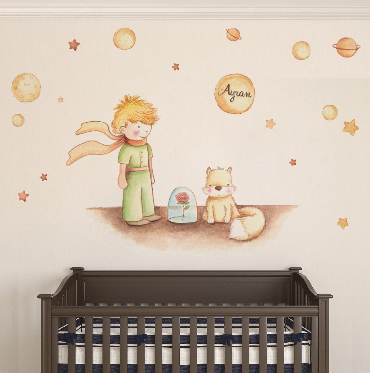 The Little Prince Wall Decal Nursery Wall Art Sticker Kids Room Decor Petit Prince Sticker New Baby Gif Nursery Wall Decals Sticker Wall Art Kid Room Decor