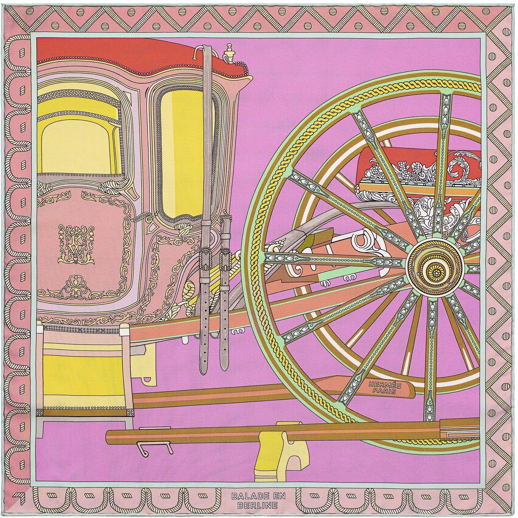 b760d96ea06f Gavroche 45 x 45 cm Hermès   Balade en Berline   Carré Hermès in ...