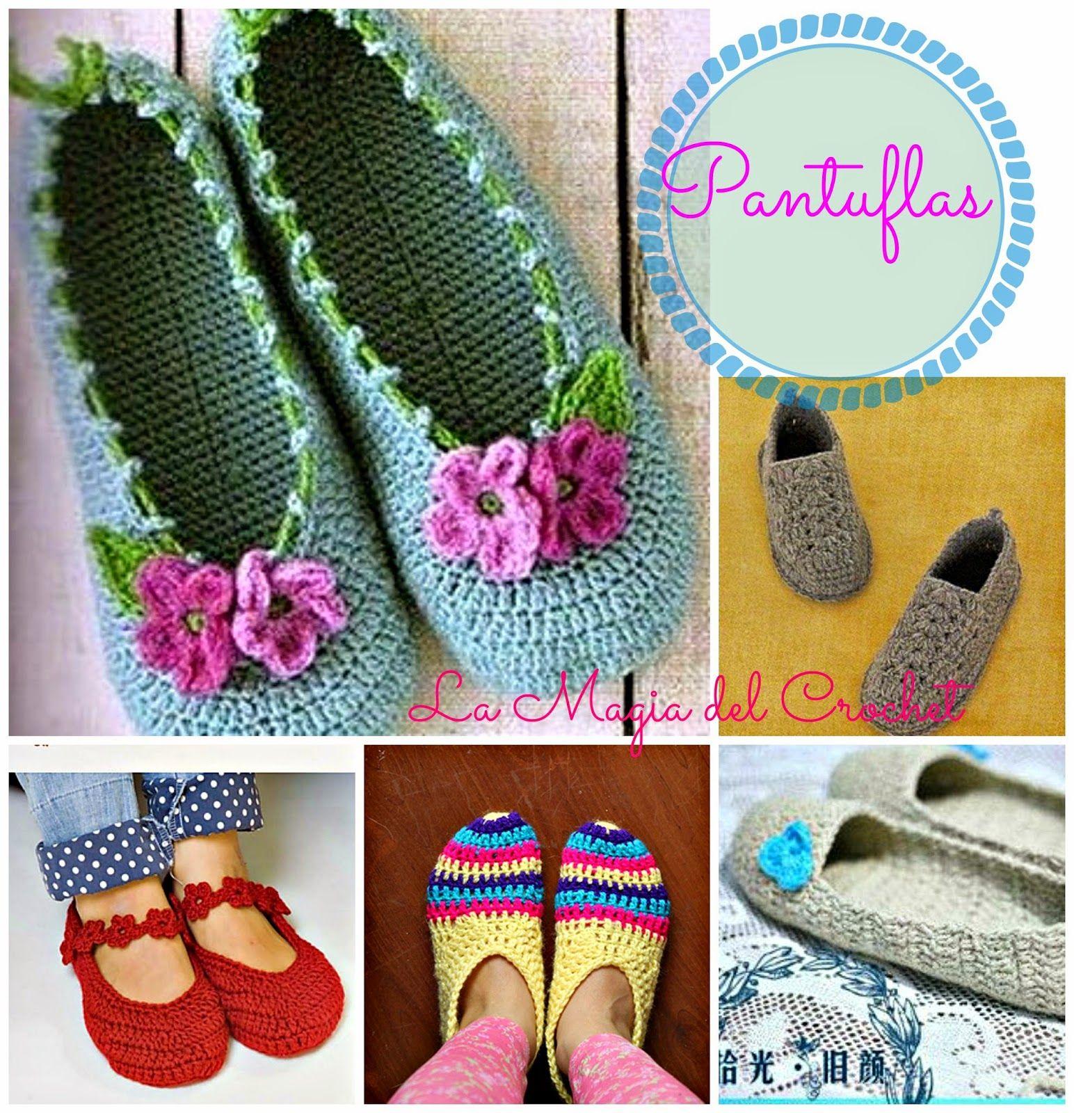 Moderno Patrón De Crochet Para Zapatillas Para Adultos Patrón ...