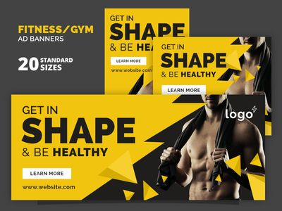 Fitness Gym Ad Banners Banner Ads Banner Gym Banner