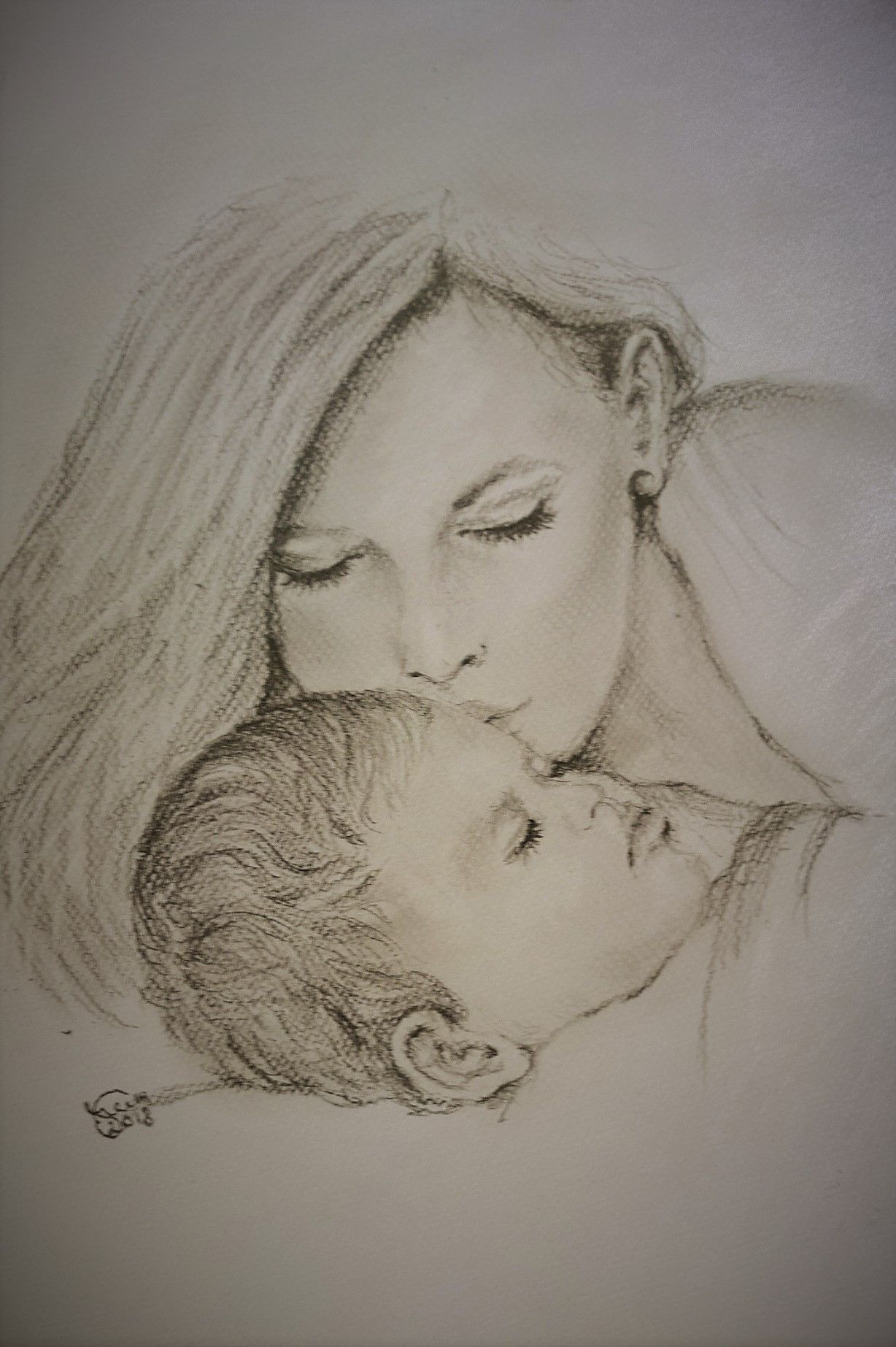 Happy mothers day pencil drawing