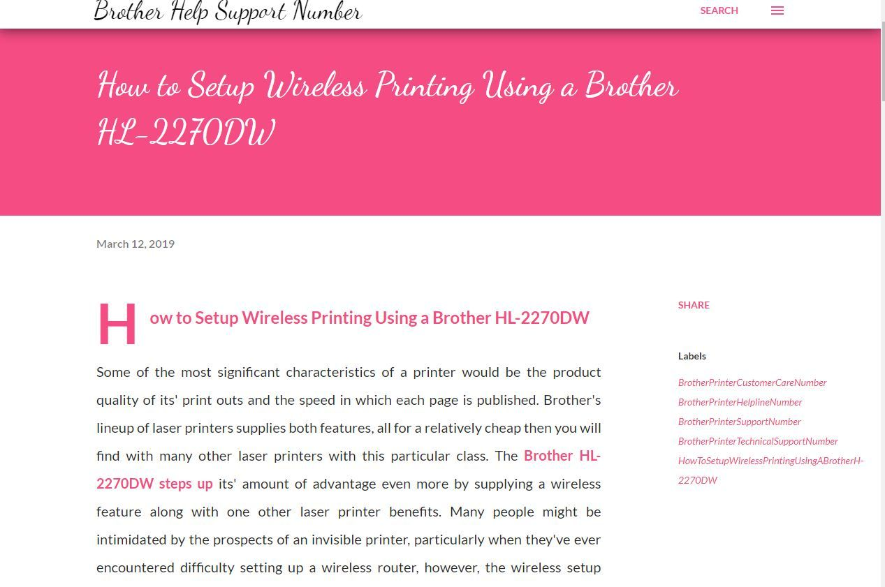 How to Setup Wireless Printing Using a Brother HL2270DW