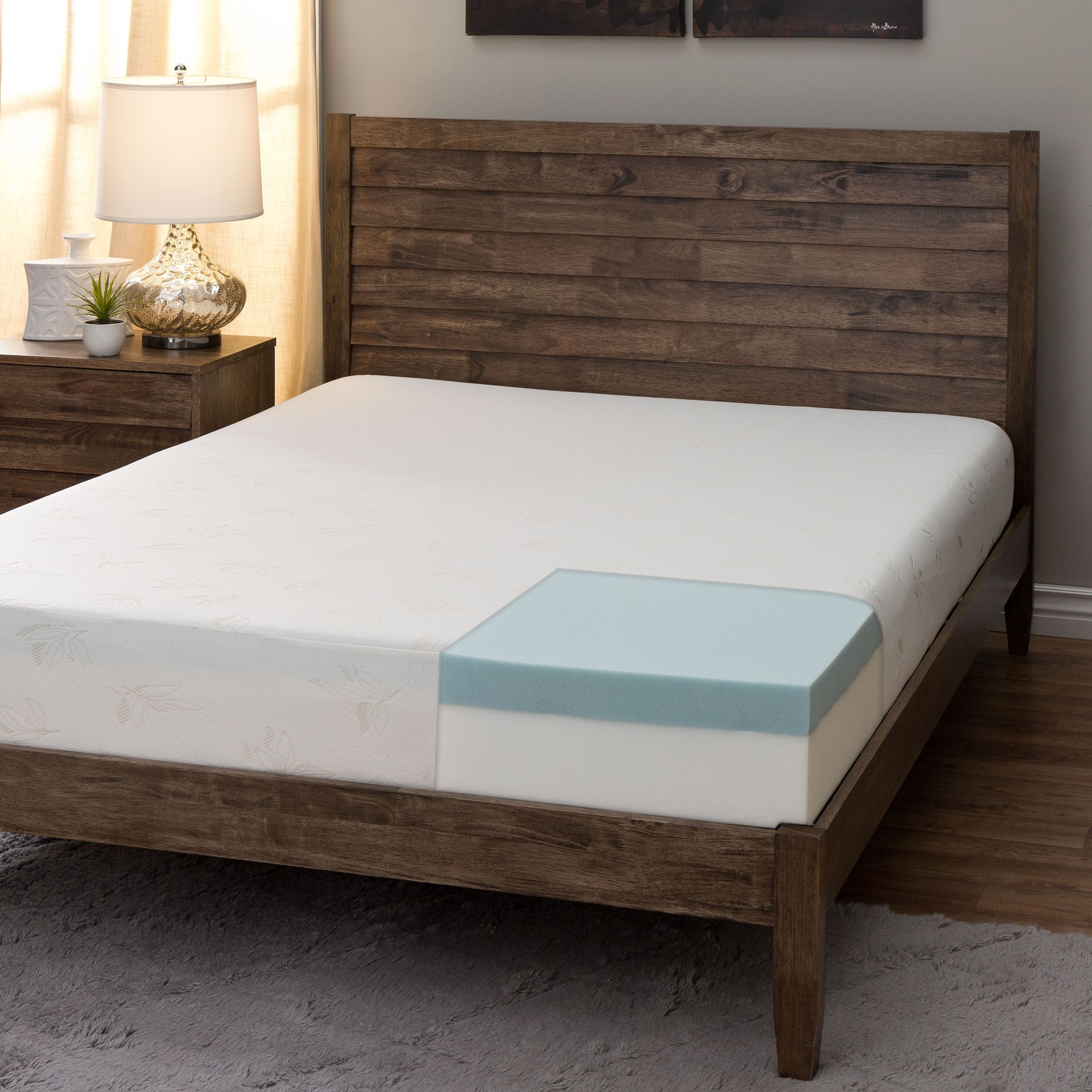 Comfort Dreams 8 Inch Queen Size Memory Foam Mattress Medium