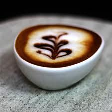 A Coffee Bean Cup Coffee And Donuts Coffee Latte Art Coffee Cafe