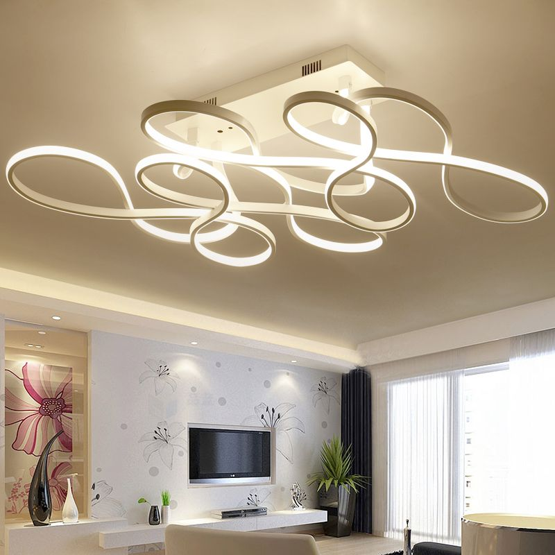 Cuican New Modern Led Ceiling Chandelier Lights For Living Room Bedroom Square Art In Living Room Lighting Ceiling Lights Living Room Modern Led Ceiling Lights