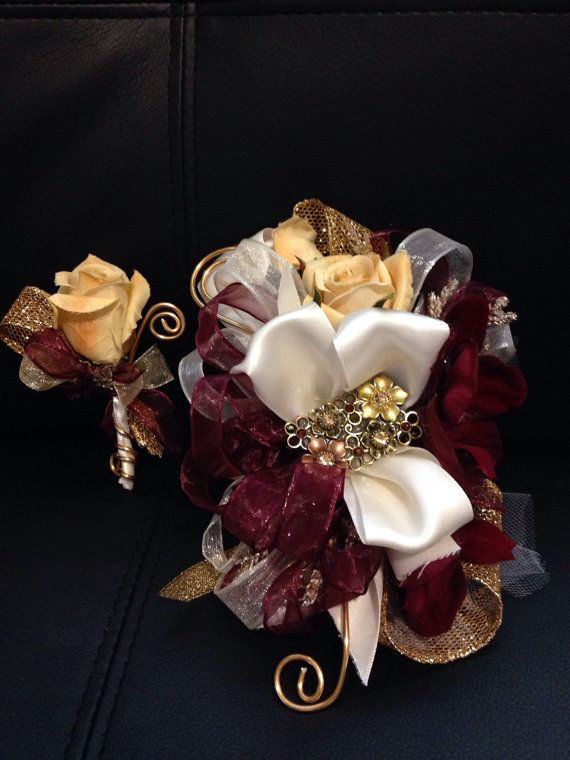 What Color Corsage For Burgundy Dress Wedding Ideas