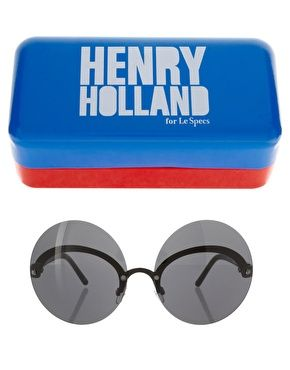 Henry Holland For Le Specs Exclusive To ASOS Monobrow Sunglasses  TRY211 ($115.99)        Round sunglasses by Henry Holland for Les Specs. Featuring oversized tinted round lenses crafted in acrylic, with a curved metal design, adjustable nose pads, and slim tortoiseshell arms with logo detailing. Presented in a branded case.