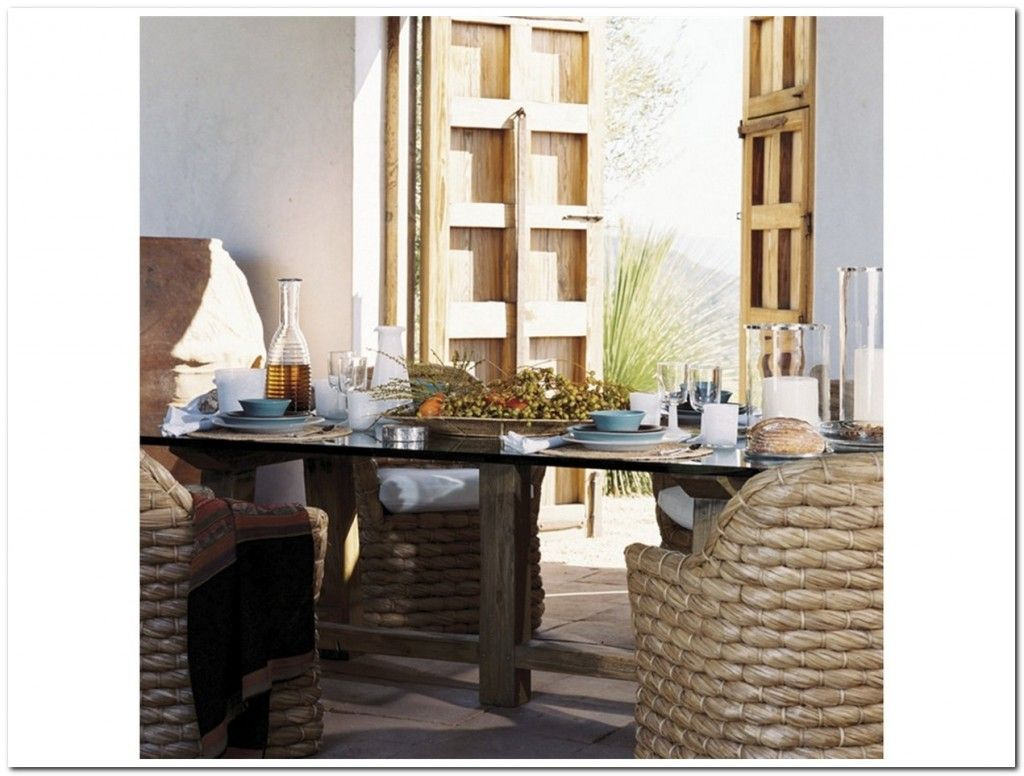 Ralph Lauren Glass Dining Table