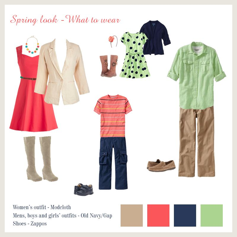 Family Photo Outfit Ideas Spring