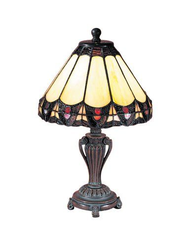Save $ 13.76 order now Dale Tiffany 8034/640 Peacock Accent Lamp, Antique Bronze
